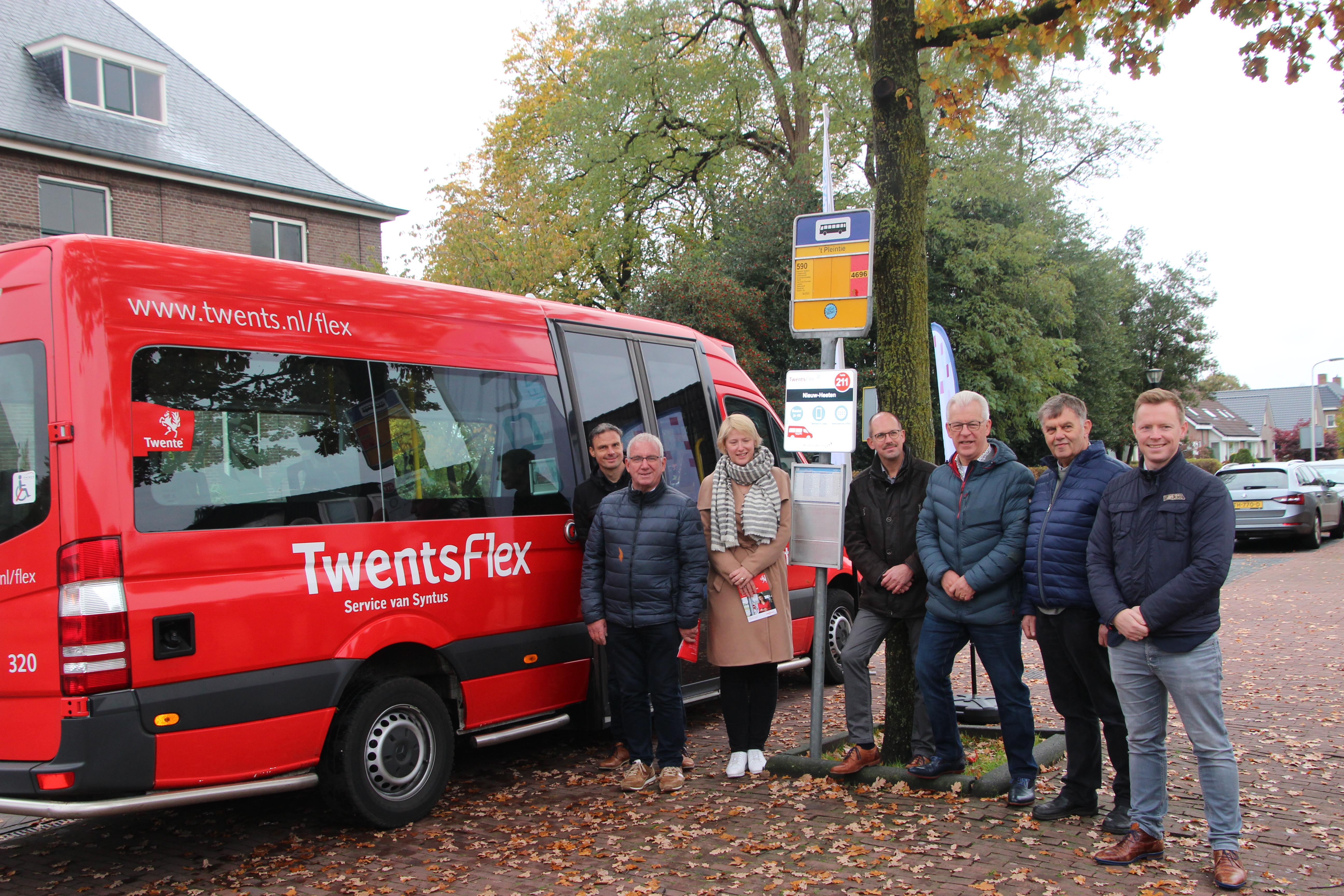 Nieuwe TwentsFlex halte in Nieuw Heeten biedt rechtstreekse verbinding tussen Rijssen-Holten en Deventer