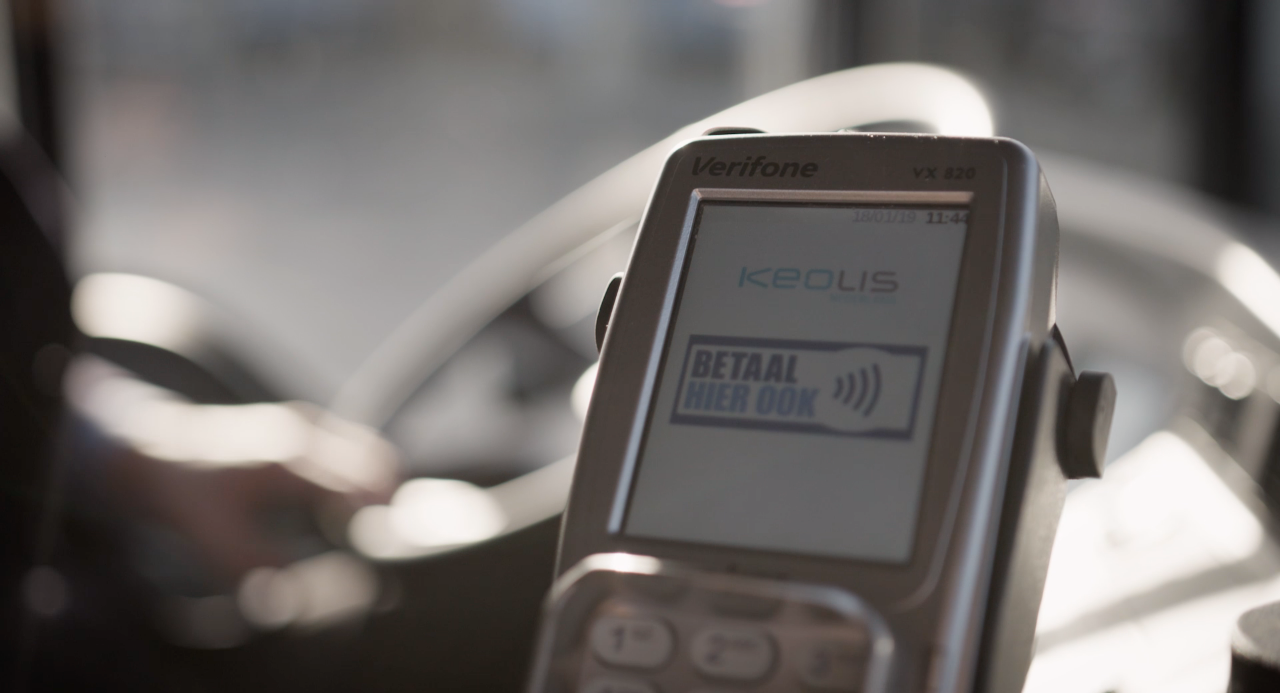 Betalen met Apple Pay in bussen Keolis Nederland